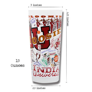 Indiana University Collegiate Drinking Glass - catstudio