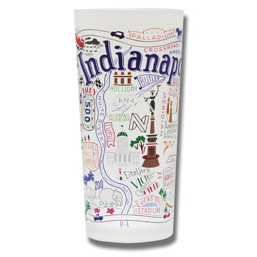 Indianapolis Drinking Glass - catstudio