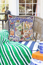 Load image into Gallery viewer, Indianapolis Hand-Embroidered Pillow - catstudio