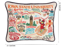 Load image into Gallery viewer, Iowa State University Collegiate Embroidered Pillow - catstudio