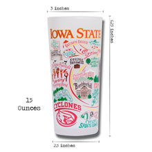 Load image into Gallery viewer, Iowa State University Drinking Glass - catstudio