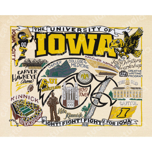Iowa, University of Collegiate Fine Art Print - catstudio