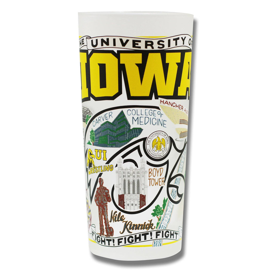 Iowa, University of Collegiate Drinking Glass - catstudio