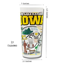 Load image into Gallery viewer, Iowa, University of Collegiate Drinking Glass - catstudio