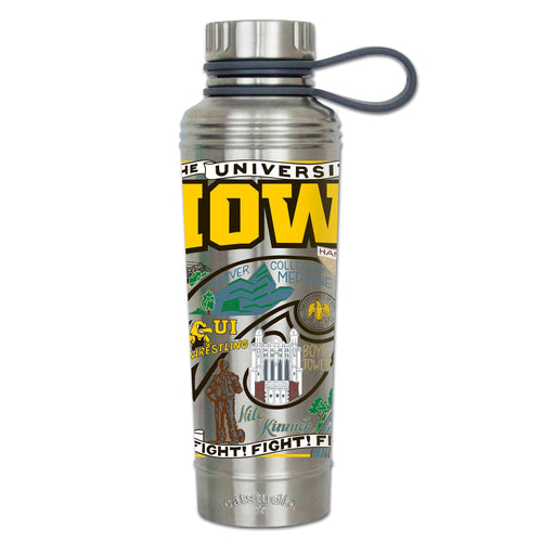 Iowa, University of Collegiate Thermal Bottle - catstudio