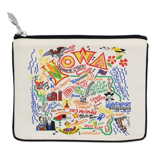 Iowa Zip Pouch - Natural - catstudio