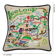 Load image into Gallery viewer, Ireland Hand-Embroidered Pillow - catstudio