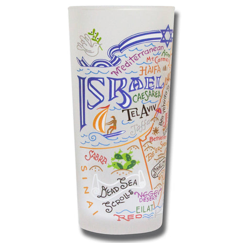 Israel Drinking Glass - catstudio