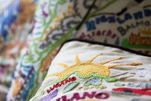 Load image into Gallery viewer, Italy Hand-Embroidered Pillow - catstudio