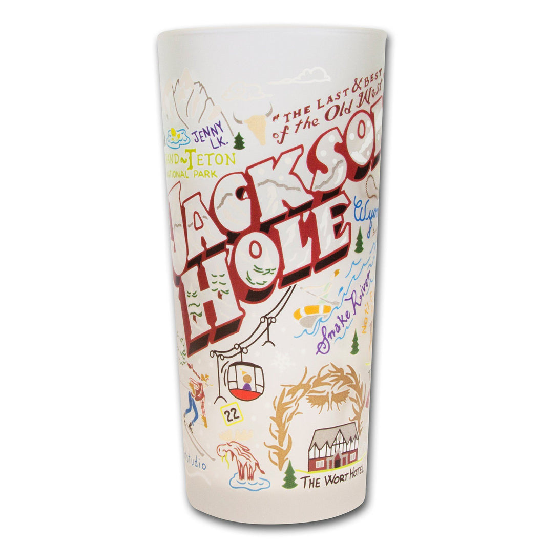 Jackson Hole Drinking Glass - catstudio