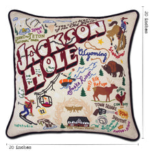 Load image into Gallery viewer, Jackson Hole Hand-Embroidered Pillow - catstudio