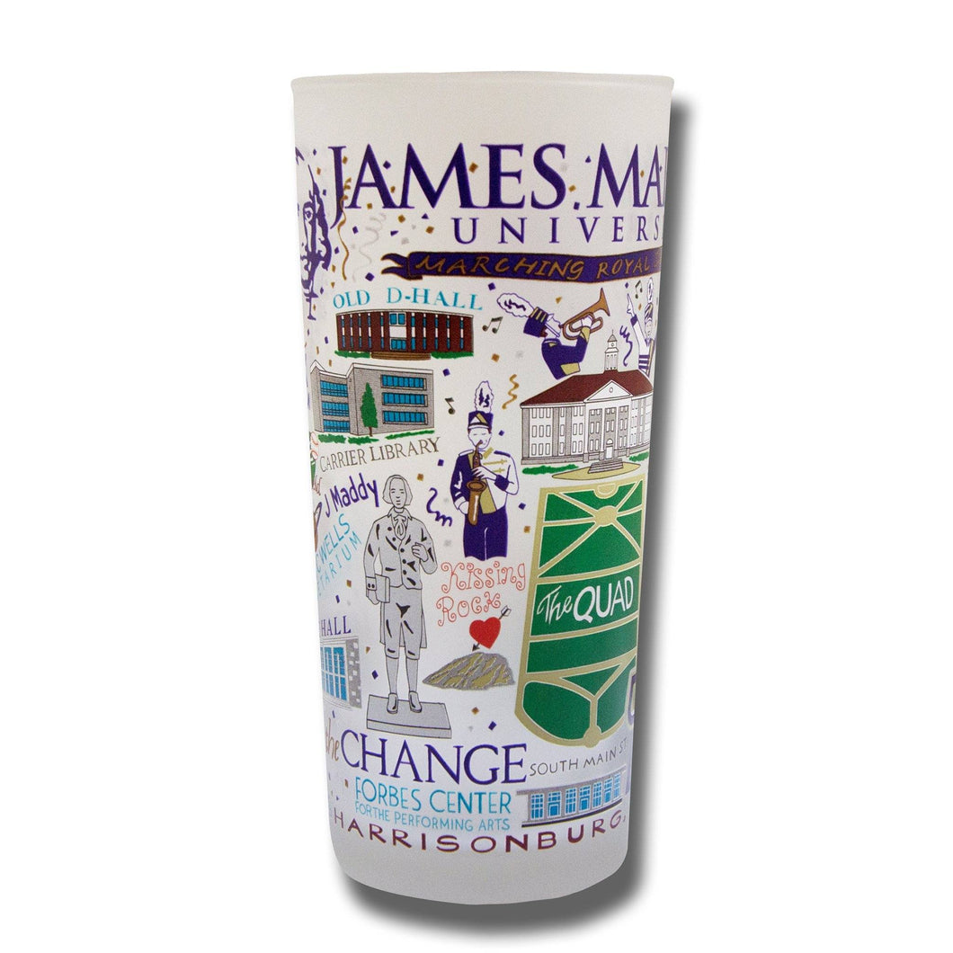 James Madison University Collegiate Drinking Glass - catstudio