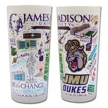 Load image into Gallery viewer, James Madison University Collegiate Drinking Glass - catstudio