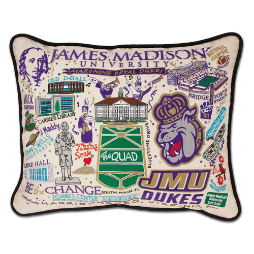 James Madison University Collegiate Embroidered Pillow - catstudio