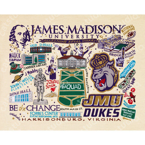 James Madison University Collegiate Fine Art Print - catstudio