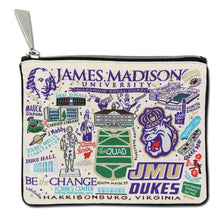 Load image into Gallery viewer, James Madison University Collegiate Zip Pouch - catstudio