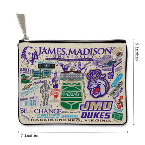 James Madison University Collegiate Zip Pouch - catstudio