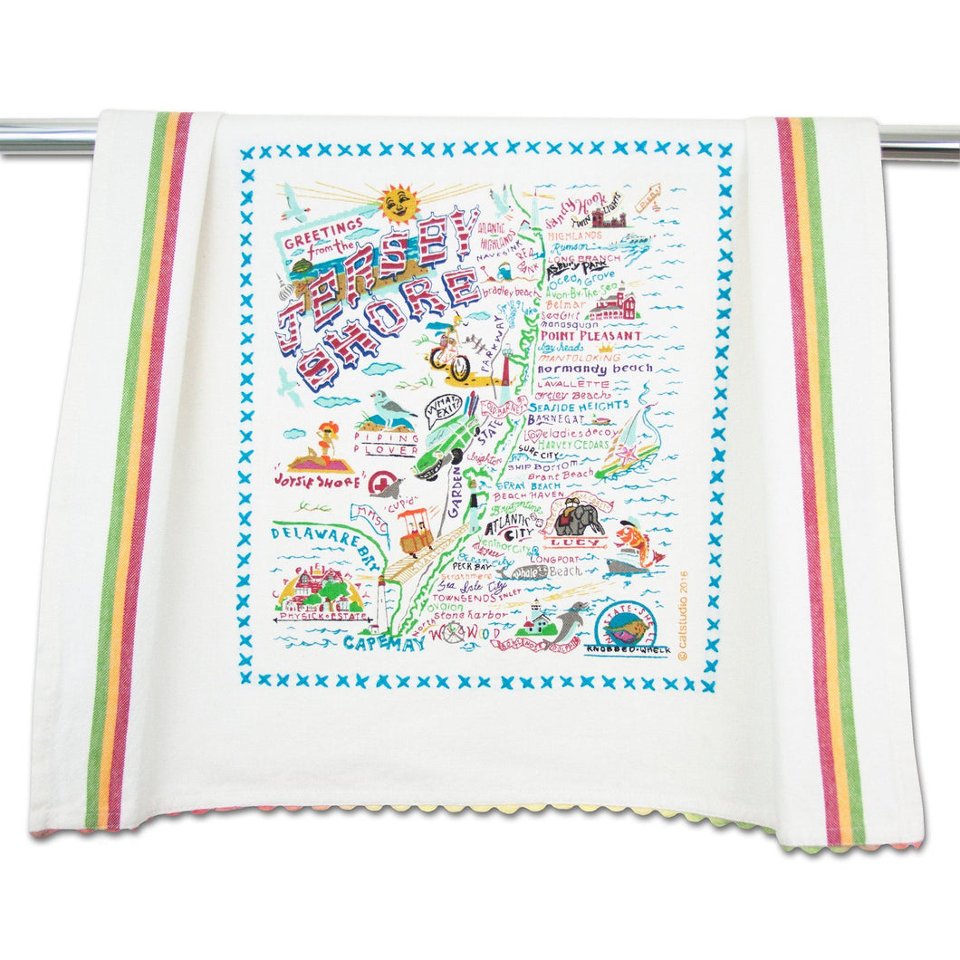 Jersey Shore Dish Towel - catstudio