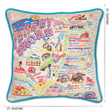 Load image into Gallery viewer, Jersey Shore Embroidered Pillow - catstudio