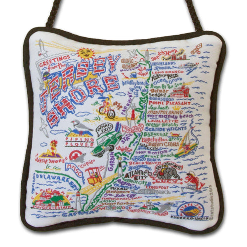 Jersey Shore Mini Pillow Ornament - catstudio