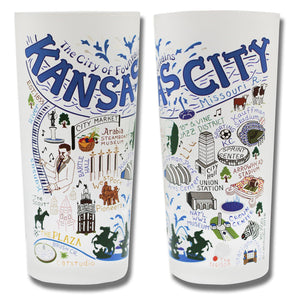 Kansas City Drinking Glass - catstudio