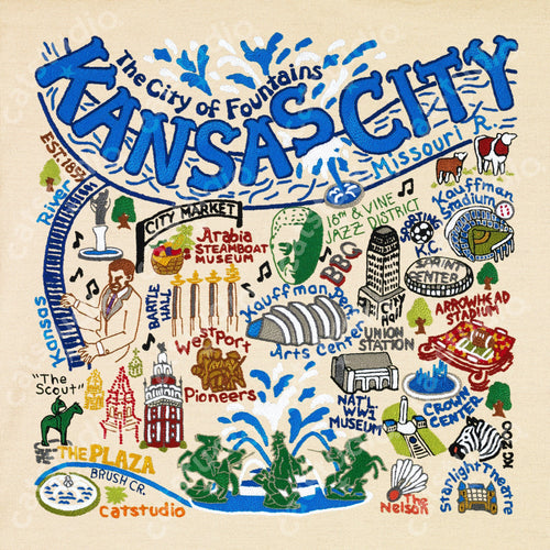 Kansas City Fine Art Print Art Print catstudio