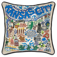 Load image into Gallery viewer, Kansas City Hand-Embroidered Pillow - catstudio