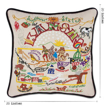 Load image into Gallery viewer, Kansas Hand-Embroidered Pillow - catstudio