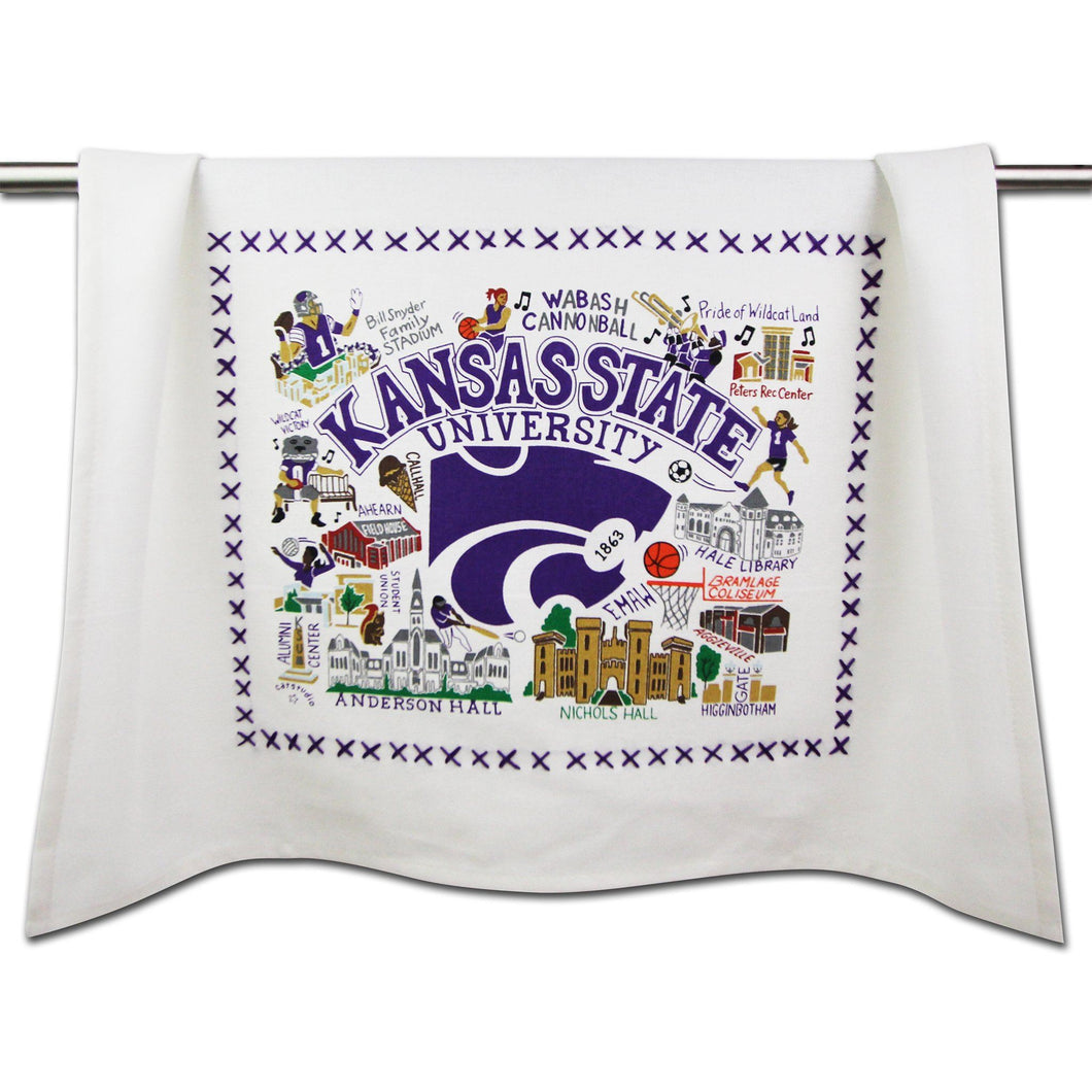 Kansas State University Collegiate Dish Towel - catstudio