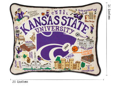 Load image into Gallery viewer, Kansas State University Collegiate Embroidered Pillow - catstudio