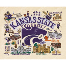 Load image into Gallery viewer, Kansas State University Collegiate Fine Art Print - catstudio