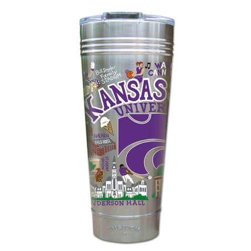 Kansas State University Collegiate Thermal Tumbler (Set of 4) - PREORDER Thermal Tumbler catstudio