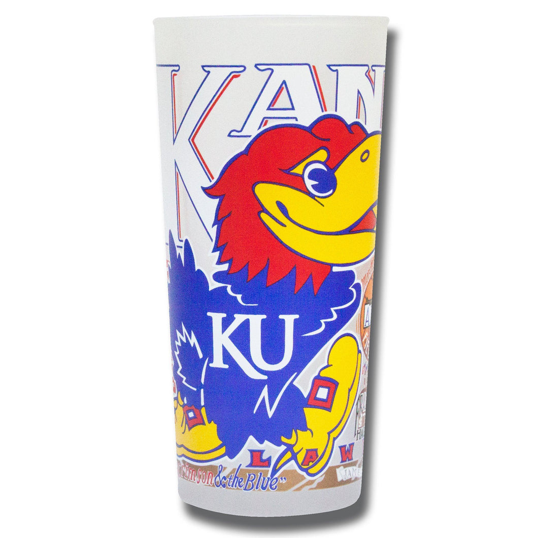 Kansas, University of Collegiate Drinking Glass - catstudio