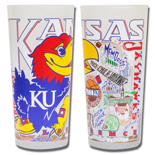 Load image into Gallery viewer, Kansas, University of Collegiate Drinking Glass - catstudio