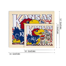 Load image into Gallery viewer, Kansas, University of Collegiate Fine Art Print - catstudio