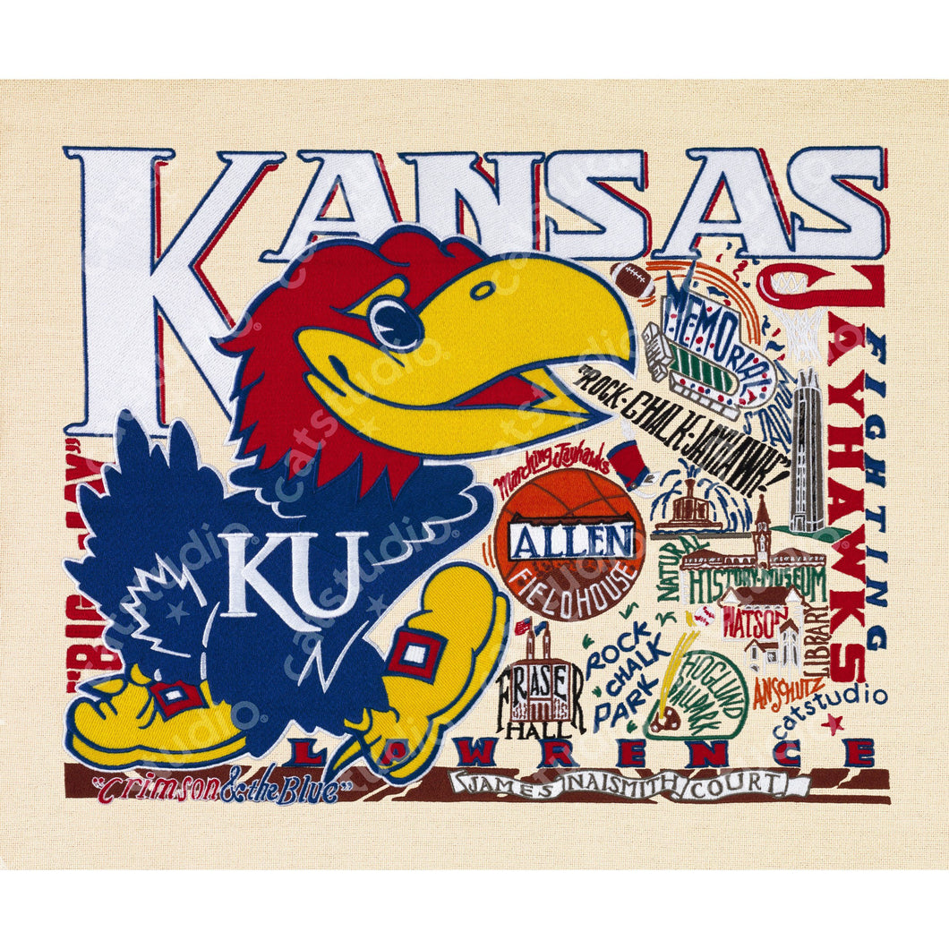 Kansas, University of Collegiate Fine Art Print - catstudio