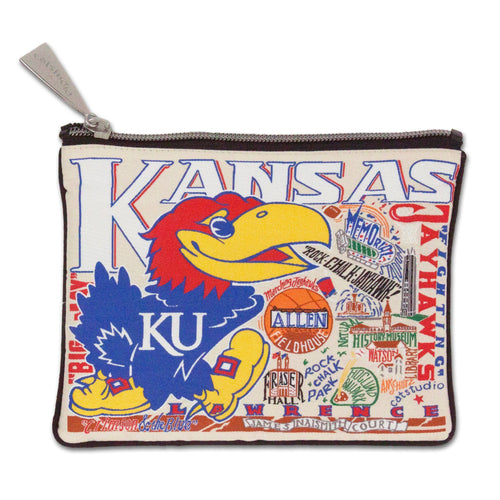 Kansas, University of Collegiate Zip Pouch - catstudio