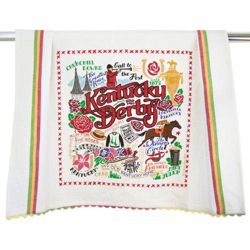 Kentucky Derby Dish Towel - catstudio