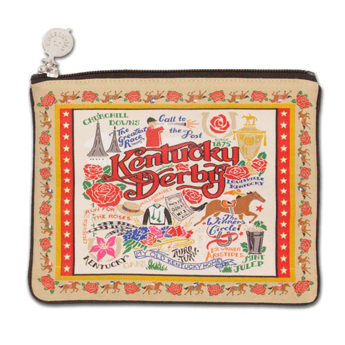 Kentucky Derby Zip Pouch - catstudio