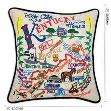 Load image into Gallery viewer, Kentucky Hand-Embroidered Pillow - catstudio