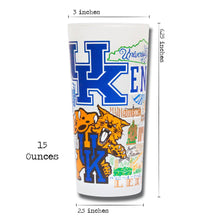 Load image into Gallery viewer, Kentucky, University of Collegiate Drinking Glass - catstudio
