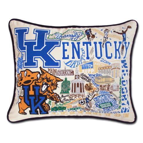 Kentucky, University of Collegiate XL Hand-Embroidered Pillow - catstudio