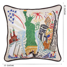 Load image into Gallery viewer, Lady Liberty Hand-Embroidered Pillow - catstudio