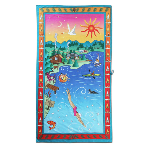Lake Life Beach & Travel Towel Beach & Travel Towels catstudio