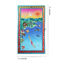 Load image into Gallery viewer, Lake Life Beach & Travel Towel Beach & Travel Towels catstudio