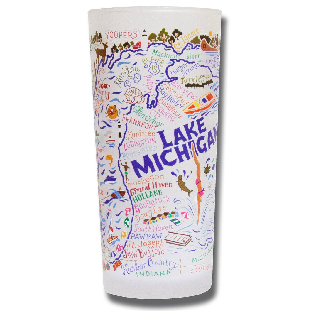 Lake Michigan Drinking Glass - catstudio