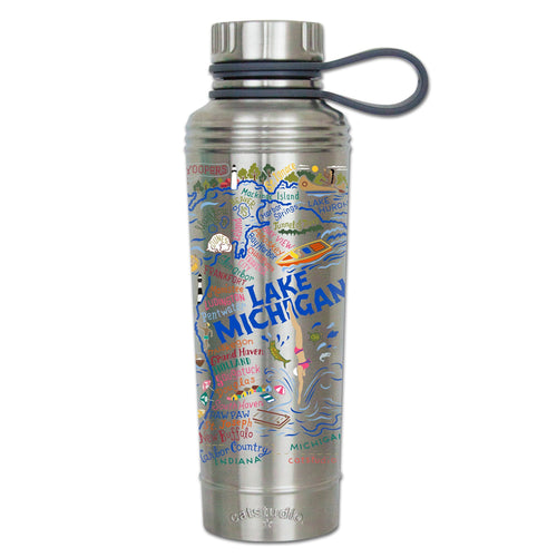 Lake Michigan Thermal Bottle Thermal Bottle catstudio