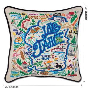 Lake Tahoe Hand-Embroidered Pillow - catstudio