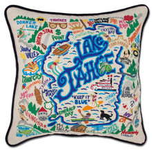 Load image into Gallery viewer, Lake Tahoe XL Hand-Embroidered Pillow - catstudio