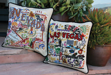 Load image into Gallery viewer, Las Vegas Hand-Embroidered Pillow - catstudio